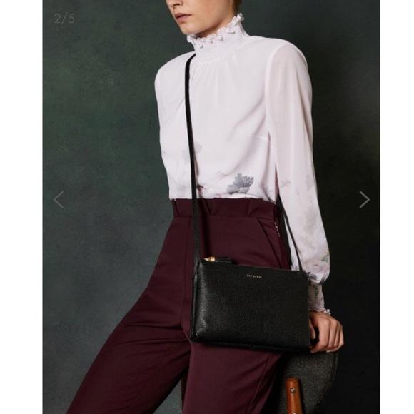 5094632b4 MACEYY Tassel leather double zip cross body bag. M 5c2a9773194dadf7b1f312e5
